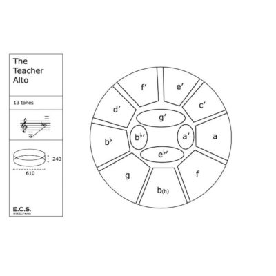 ECS The Teacher Alto Steelpan Layout